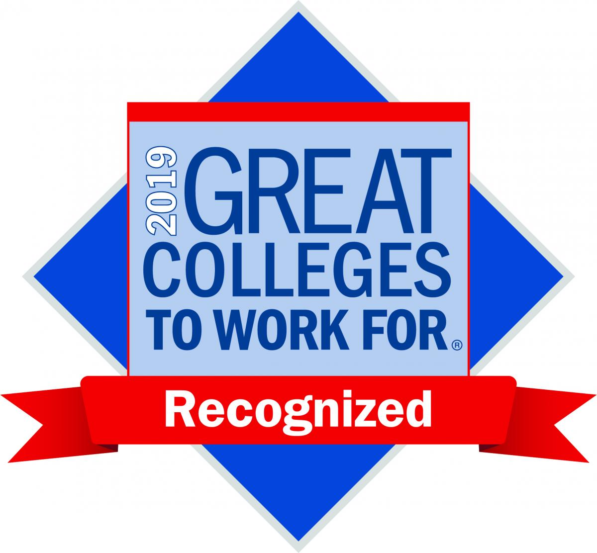 2019 Great Colleges to Work for Recognized