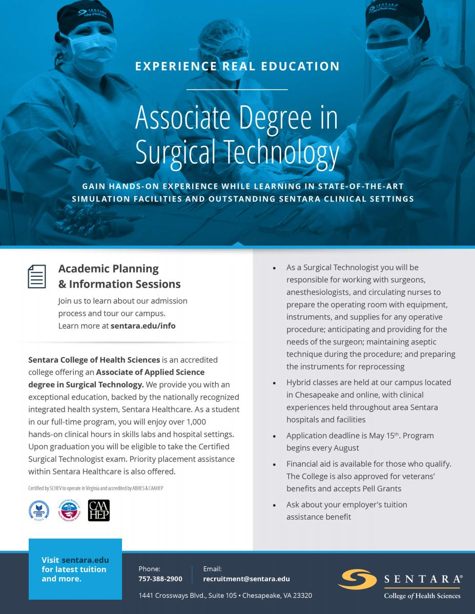 Surgical Technology Sentara College Of Health Sciences