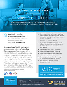 Patient Care Technician Flyer