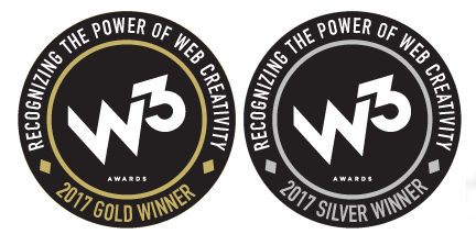 silver and gold w3 award